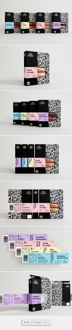 Zamora Sausages packaging design by makebardo - http://www.packagingoftheworld.com/2018/02/zamora-sausages.html