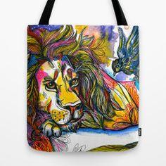 """TOTE BAG / 16"""" X 16""""   A paz é um Ideal. Illustration by Gra Pereira. http://society6.com/grapereira/A-paz--um-Ideal_Bag#26=197"""