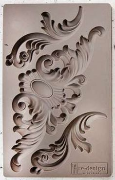 Victorian Ornaments, Baroque silicone mould, handmade vintage look mold, SCROLLS set – kerzen selber machen Plaster Crafts, Plaster Art, Resin Crafts, Plaster Molds, Diy Furniture Projects, Furniture Decor, Painted Furniture, Baroque Decor, Cement Art