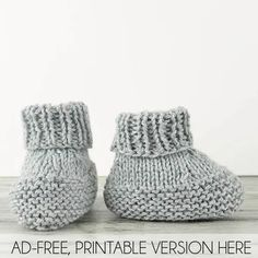 Knitted Baby Boots, Baby Booties Knitting Pattern, Knit Baby Booties, Knitting Socks, Knitting Patterns Free, Free Knitting, Booties Crochet, Baby Bootie Pattern, Knit Baby Shoes