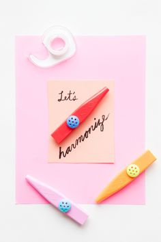 Kazoo Valentine | 14 Awesome Candy-Free Valentines | Oh Happy Day