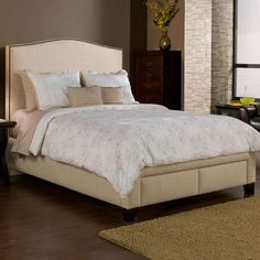 Seahawk Designs Newport Upholstered Storage Platform Bed Size: King, Finish: Tan