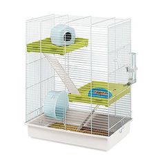 PACC Pets 57018411 Hamster Tris Hamster Cage, White -- Check this awesome product by going to the link at the image. (This is an affiliate link and I receive a commission for the sales) Hamsters, Hamster Russe, Cage Hamster, Dog Cages, Pet Dogs, Pets, White Bar, Pet Supplies, Carnival