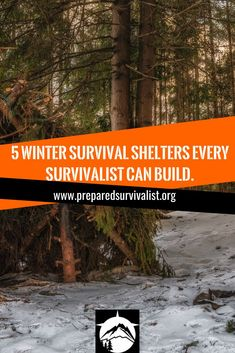 In the cold outdoor, hypothermia can be fatal within hours. It can take hold of you within minutes. Especially when you are not dressed for it! If you ever find yourself in a situation that you need to build a shelter with or without tools. Then I got 5 options for you to build! Survival Shelter, Survival Food, Wilderness Survival, Survival Tips, Diy House Projects, Cool Diy Projects, Best Camping Meals, How To Make Fire, Winter Survival