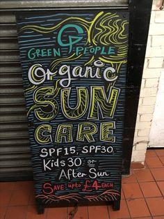 Green People Organic Sun Care @ Chiswick - June 2016  #asnatureintended #chalkboard #art #promo #advert #chalkboardart