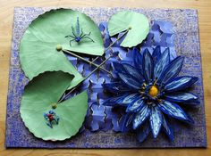 Cape Blue Water Lily. Entered in Quilling Quild 30th Anniversay Celebration and AGM at Liverpool, UK. August 2013