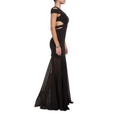 BO.BÔ - Vestido longo Bo.Bô recortes - preto - OQVestir