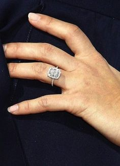 Guess who the famous owner of this asscher cut diamond engagement ring is!