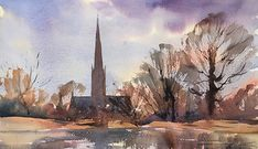 Artists in Wiltshire Watercolor Landscape Paintings, Watercolor Artists, Watercolour, Artist Life, Projects To Try, Gallery, Oil, Watercolor Painting, Paint