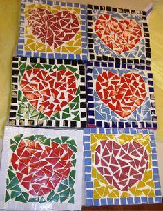 Billiges Vatertagsgeschenk nos cadeaux de fête des mères - Geschenkideen Valentines Day Activities, Valentines For Kids, Valentine Day Crafts, Fun Crafts, Crafts For Kids, Arts And Crafts, Paper Crafts, Mosaic Art Projects, Craft Projects