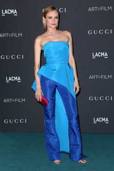 Diane Kruger in Monique Lhuillier - LACMA 2015 Art+Film Gala Honoring James Turrell and Alejandro G Inarritu, Presented by Gucci - November 7, 2015