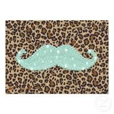 Leopard print moustache