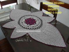 Delicadezas en crochet Gabriela: Tapete ovalado