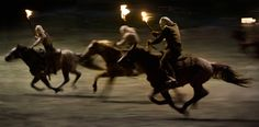 Rennende paarden in Django Unchained.
