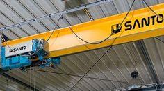 http://www.santocrane.com/ #magnet #crane The level set in the two legs of the bridge constitute a bridge crane gantry shape. This crane on the ground orbit.