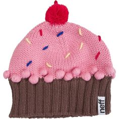 Neff Cupcake Beanie ($28) ❤ liked on Polyvore