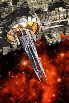 Aleerin-like Starship Design Spaceship Art, Spaceship Design, Stargate, Starship Concept, Sci Fi Spaceships, Space Battles, Space Fantasy, Concept Ships, Space Ship Concept Art