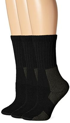 Thorlo Womens Hiking Sock 3 Pack Black 10 >>> You can get additional details at the image link.