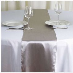 Silver Satin Table Runners - 18 in stock