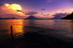 Lake Atitlan Sunset Guatemala