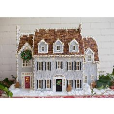 Gingerbread House Inspiration The glazed shingle exterior, choppy roof tiles and window details of this custom home were such a delight to plan for and create. Easy Gingerbread House, Gingerbread Castle, Gingerbread House Designs, Christmas Cookies, Christmas Holidays, Christmas Crafts, Christmas Decorations, Christmas 2019, Cookie House