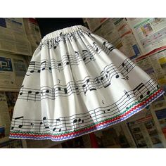 Musical Dress, Music Notes Dress, Musical Skirt, MUsic Clothing, Roobys ($41) found on Polyvore