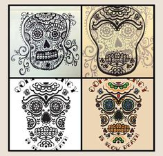 La Calavera Day of the Dead Skull autocollant Sticker Long Lasting for Any Surface Maryann Luera 3.75 x 5 Weather Resistant