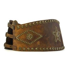 40s Studded Leather Kidney Belt / RARE Vintage Handmade