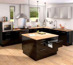 Oser la cuisine noire avec Brico Dépôt http://blog-cuisines.fr/cuisines-noires.html