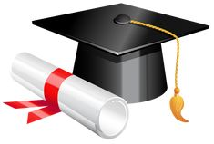 Graduation Cap and Diploma PNG Clipart Picture
