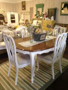 French Provincial Dining Table With Four Chairs By VintageChicBtq, $1295.00