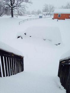 Katie Whitney of Churchville, VA says she has a snow car. #WHSVsnow