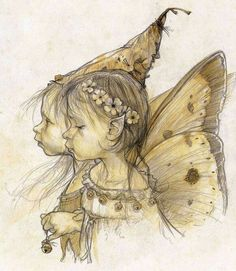 Character and Creature Design Notes: Jean-Baptiste Monge Elfen Fantasy, Fantasy Art, Brownie Fairy, Fairy Drawings, Elves And Fairies, Fairy Pictures, Jean Baptiste, Lowbrow Art, Eye Art