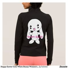 Happy #Easter Cute White #Bunny Women's #Jacket  #forher design by @halotee