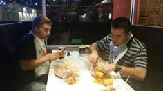 Boiling Crab - Sacramento, Ca - Digging in - Butter & Crab where can you go wrong?!