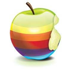 Rainbow Apple Ad