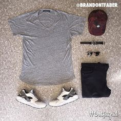 Today's top #outfitgrid is by @brandontfaber. ▫️#JohnElliottCo #Tee ▫️#RepresentClo #flatlay #flatlayapp #flatlays