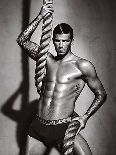 David Beckham in his sexy ad campaign for Emporio Armani Underwear. Emporio Armani mens underwear is available in many sexy styles, including: briefs, thongs, boxer briefs, trunks, t-shirts and more! New fashion underwear is introduced every season!