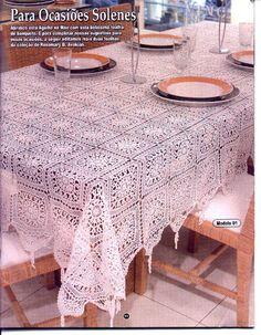 Roberta Crochê e Cia: Toalha de mesa de crochê