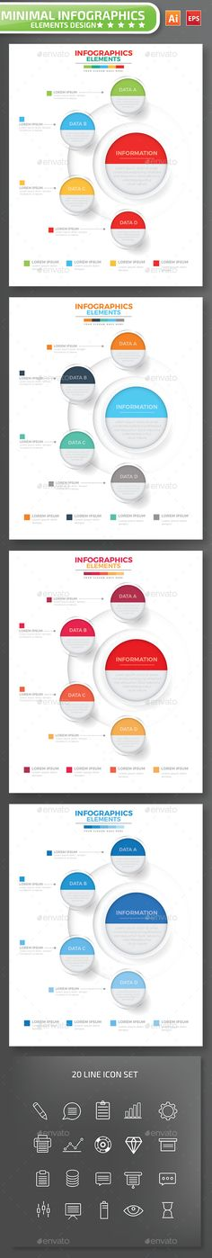 Minimal infographic Design Template Vector EPS, AI Illustrator. Download here: https://graphicriver.net/item/minimal-infographic-design/17070082?ref=ksioks