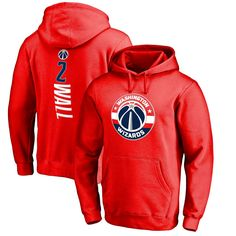 John Wall Washington Wizards Fanatics Branded Stacked Name & Number Pullover Hoodie - Red - $51.99