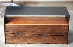 Urban Hardwoods Furniture - Seattle, blackened steel coffee table