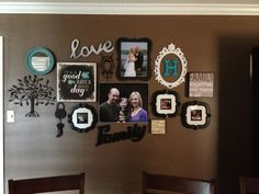 Love The Antique Frames Around Wood Letters, Love Sign, Bright Round  Mirror, Photos, Canvas Photos And Random Wall Décor! Love It Would Be  Perfect In My ...