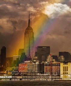 Rainbow in New York 😉❤💛💚💙🌈