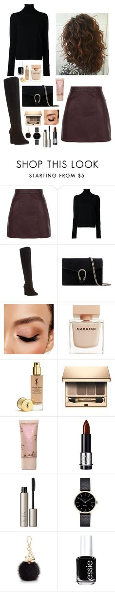 """Untitled #174"" by rawdar ❤ liked on Polyvore featuring New Look, Nehera, Dune, Gucci, Avon, Narciso Rodriguez, Clarins, Ilia, Myku and Furla"