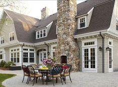 Patio Decorating Ideas. Perfect Patio Decor! #Patio Love the stonework on the chimney