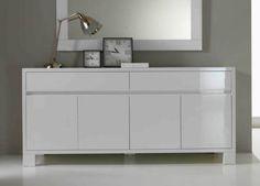 Neve Large White Sideboard