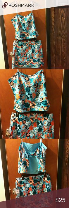 nwt  mossimo bathing suit 2piece cover up brand new never worn set,perfect for a day at the beach or to just have fun in the sun.?? Mossimo Supply Co. Swim Coverups