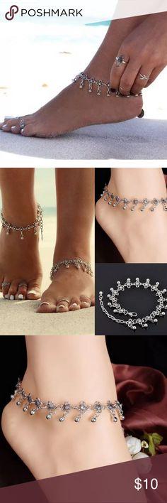 NEW Silver Anklet Brand new Jewelry http://www.allthingsvogue.com/best-luxury-silver-bangle-bracelets/