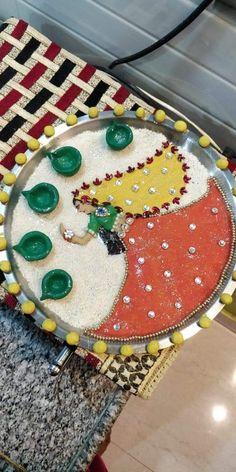 Rangoli Designs Latest, Rangoli Designs Flower, Rangoli Border Designs, Rangoli Designs Diwali, Diwali Decorations At Home, Backdrop Decorations, Festival Decorations, Flower Decorations, Arti Thali Decoration